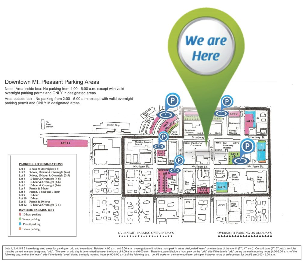 Pure Vitality - Mt. Pleasant, MI - Parking Map